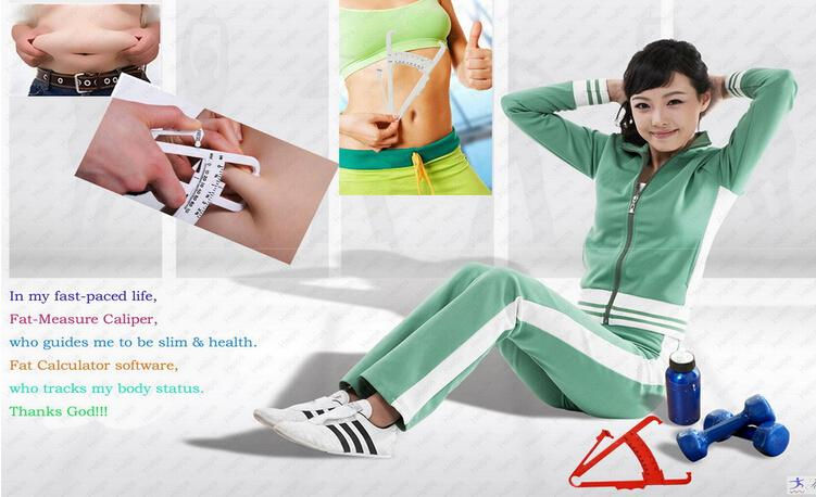 Body Fat Measurement Testing Calipers Skinfold Skin Fold Weight Loss Test by DHL