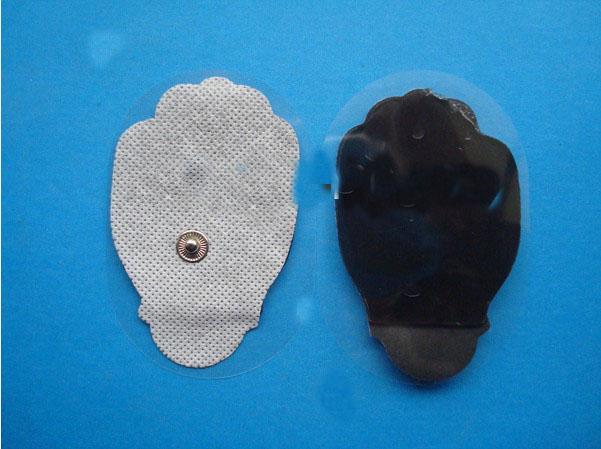 400 stücke stoff Hand palm Form Ersatz Massage Therapie elektrodenpads Electro Pad für Tens Electrode E-stim ZEHN Einheiten Mono-polar durch dhl