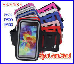 Wholesale Galaxy S3 Clip - Universal Running Sports Gym Armband Waterproof Arm band Pouch for Samsung Galaxy S5 i9600 S4 i9500 S3 i9300 Leather Belt Clip Case