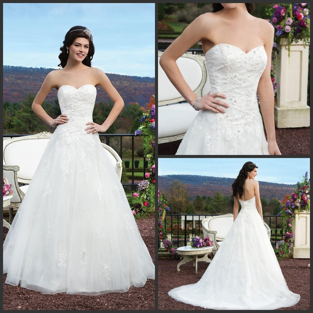 Discount 2015 Cheap Sincerity Wedding Dresses 3801 Tulle And Lace ...