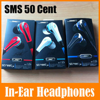 Wholesale Best Microphone Brands - Best Quality SMS By 50 Cent Stereo Wired On Ear Earphone Headphones For iPhone iPad iPod MP3 MP4 Noise Cancelling Earbuds Headset Free ship