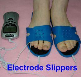 2019 masseur de chaussures Foot Relax Masseur Électrode Pantoufles Pads Tens machine Soulagement de la douleur des chaussures Réutilisation des pieds Masseur promotion masseur de chaussures