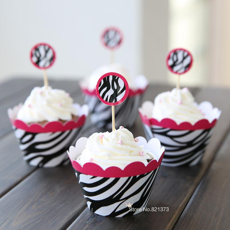 2018 Zebra Print Baby Shower Decoration Black And White Striped