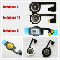 Para el iphone 4 4S 5 Botón Inicio Flex cable de retorno clave Ribbon Cable Piezas de repuesto para 200pcs iPhone5 / hasta