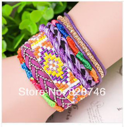 Wholesale Hipanema Magnet - Hipanema Bohemian multilayer color magnet for m bead weaving rope bracelet