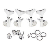Wholesale Tuning Machine Heads For Guitars - 4pcs set Chrome Sealed Tuning Pegs Tuners Machine Heads for Bass Guitar 2L+2R 2Left + 2Right Guitar Parts Wholesale Price I312