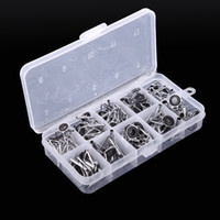 Wholesale Stainless Ring Fishing Rod - New 80Pcs Stainless Steel Sea Carp Fishing Rod Guide Guides Tip Set Repair Kit DIY Eye Rings Different Size Frames with Box H10942