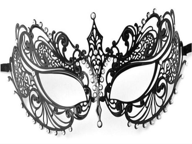 أزياء المرأة المعادن قناع الليزر قطع حجر الراين الماس أقنعة تنكرية الرقص حزب الكرة احتفالي قطع قناع أسود صور الدعائم الزفاف