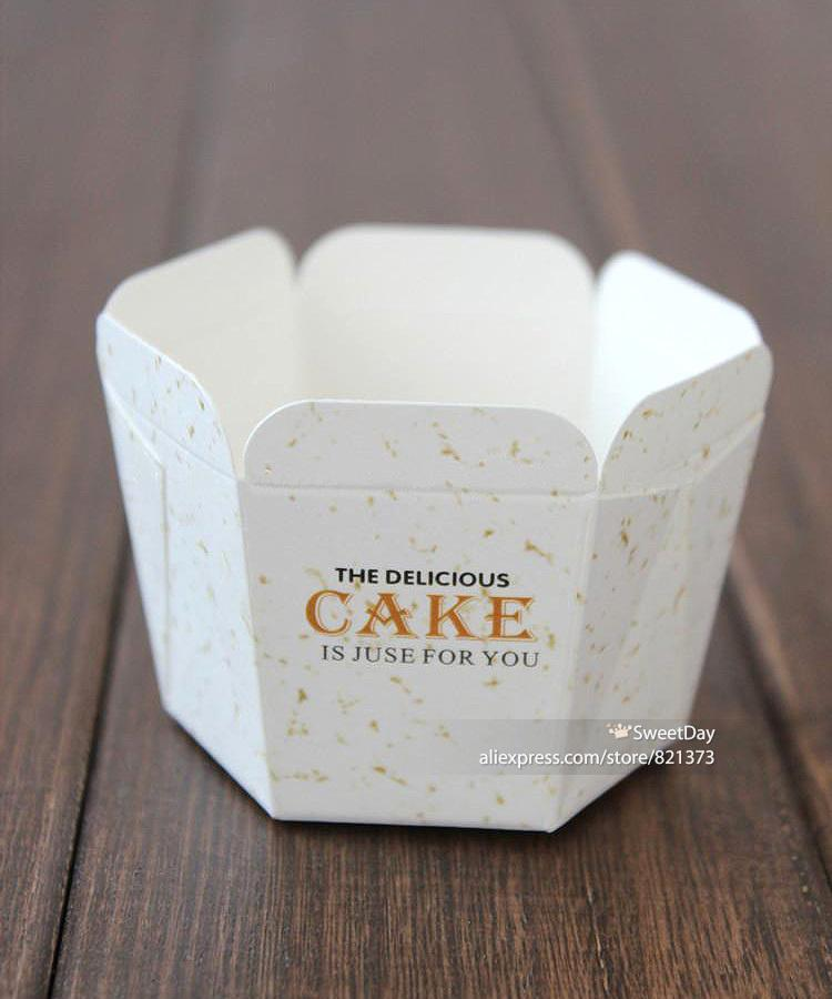 Trasporto libero di carta tazze di cottura cupcake caso, monouso muffin torta piazza fodere scatole scatole forniture festa di nozze