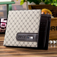 Wholesale Genuine Leather Purses Wholesale - Fashion new men designer genuine leather paid purses wallets brand quality wallet for men beige and coffee 4 styles free shipping