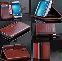 Wholesale Galaxy S Iv Flip - Min.order is $10 (mix order) Luxury Flip Leather Wallet Cell Phone Case Skin For Samsung Galaxy S4 S IV i9500 EC050