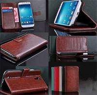 sipariş telefonları toptan satış-Order 10 $ (mix sipariş) Lüks Kapak Deri Cüzdan Cep Telefonu Kılıfı Cilt Samsung Galaxy S4 S IV i9500 EC050