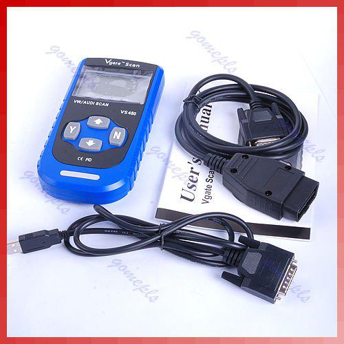 Car VS450 LCD Display OBDII OBD2 Diagnostic Scan Scanner Tool Code Reader For VW Volkswagen AUDI