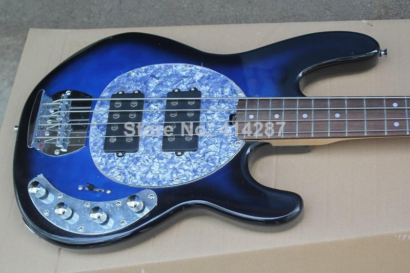 4 strings musicman sabre bass blue burst electric bass guitar active pickups white pearloid. Black Bedroom Furniture Sets. Home Design Ideas