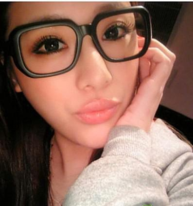 2019 Black Glasses Big Thick Frame Female Eye Frame