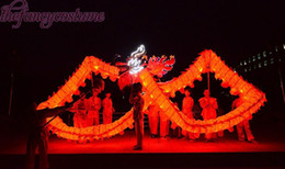 ballo del drago cinese Sconti Brand New Chinese Spring Day luci a LED tessuto di seta stampa drago DRAGO DANZA DRAGON ORIGINALE Dragon Folk Festival Celebration Costume