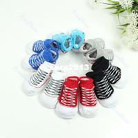 Wholesale Baby Low Cut Socks - Wholesale-Hot Selling 1Pair Cute Unisex Baby Low Cut Shoe Socks Boys Girls Anti-Slip Socks Shoes Slipper 0-12M