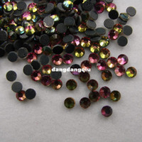 Wholesale Flatback Stones - Wholesale-Free Shipping SS6 1440pcs Bag RAINBOW DMC HotFix FlatBack Rhinestones trim strass DIY iron on glass Hot Fix crystal stone