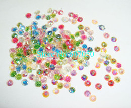 Wholesale Rhinestone Gems 4mm - Wholesale-200pcs x 4*4mm Mixed Colors Small Round Resin Glitter Gem Rhinestones for Nail Art Decoration