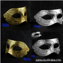 Wholesale Man Masquerade Masks - Retro Greco-Roman Mens Mask Mardi Gras Masquerade Halloween Costume Party MASKS