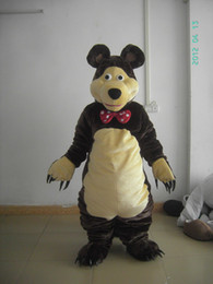 Wholesale Masha Music - masha bear mascot costume for sale Adult masha and the bear mascot costume