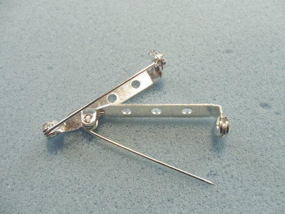 롤 안전 버클과 의 브로치 안전 핀 32mm 실버 도금 - 브로치 백 롤 버클 브로치 핀