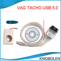 Wholesale Hot Vag - Hot selling Vagtacho USB Version V 5.0 VAG Tacho For NEC MCU 24C32 or 24C64 2013 Professioanl ECU Chip Tunning Tool