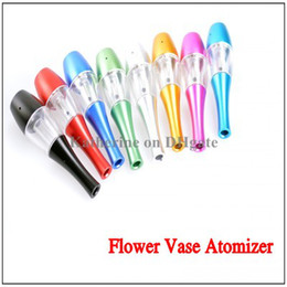 Wholesale Huge Flowers - Vase Atomizer Flower Vase Clearomizer 2.0ml Cartomizer Huge Vapor Replaceable Tank for Electronic Cigarette E Cigarette Cig Various Colors