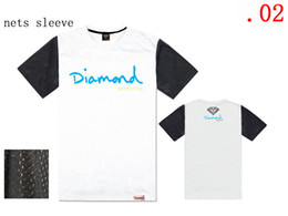 Wholesale Diamond Tshirts - Wholesale - white shirts mens T shirts Hip-hop brand cheap Short Sleeve Tshirts Diamond Tshirts Sports t shirt men big discount Mix order