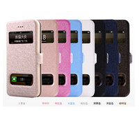 Wholesale I Phone 5g Cover - Dawdler Genuine Leather Flip Case with Two Calling Windows For Apple iPhone 5 5G 5S iphone5 cover i phone 5 5S cASE