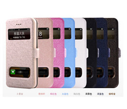 Wholesale Iphone 5g Iphone5 - Dawdler Genuine Leather Flip Case with Two Calling Windows For Apple iPhone 5 5G 5S iphone5 cover i phone 5 5S cASE