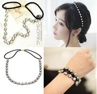 Wholesale Metal Chain Hair Band - Brand New Women Fashion Metal Rhinestone Head Chain Jewelry Headband Head Piece Hair Band Free Shipping[JH04001*6]