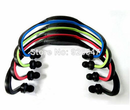 Wholesale Wireless Mp3 Headphones - Wholesale-New 2014 Sport Wireless Earphones Headphones Sports Music MP3 Player TF Card Headset for Gym Running Jogging #40806