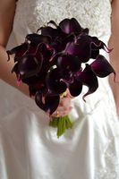 Wholesale Decorative Bouquets - DES FLORAL Decorative flower Artificial Dark Purple Mini Calla Lily Bouquet For Wedding Decoration