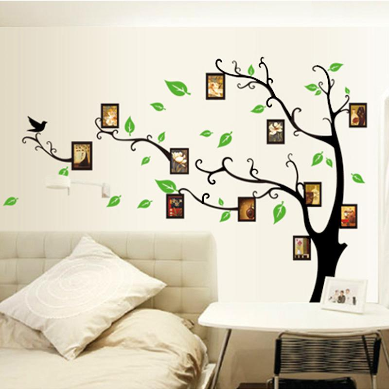 acheter cadre photo cadres arbre bricolage amovible art vinyle mur autocollant decor mural. Black Bedroom Furniture Sets. Home Design Ideas