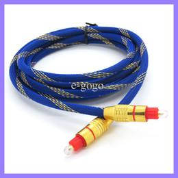 Синий 2 м 6 футов позолоченный цифровой волоконно-оптический Toslink цифровой аудио кабель свинец шнур линия подключения для SPDIF DVD CD MD на Распродаже