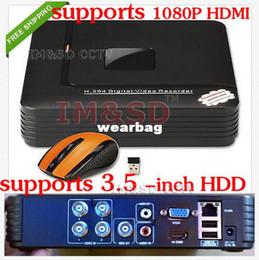 Wholesale Dvr Ch Recorder Hdmi - Wholesale-NEW 4 CH Channel H.264 Home Network Mini CCTV 1080p HDMI DVR P2P Security Video Recorder S1