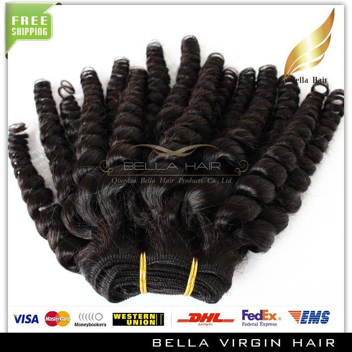Bella Hair® Funmi Hair أسلوب جديد شعرة الإنسان 8A بيرو عذراء الشعر عمتي Funmi Sprial حليقة غير المجهزة اللون الطبيعي شعر الإنسان ينسج