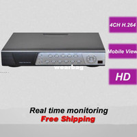 Wholesale Digital Video Recorder Ch - Wholesale-Free shipping 4 CH channel CCTV DVR HD digital video recorder security surveillance real time monitoring camera systems install