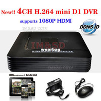 Wholesale-Hot 4CH Full D1 Mini DVR em tempo real de gravação de 4 canais Standalone CCTV DVR HDMI 1920 * 1080 Output P2P Nuvem Mobile Phone Viewing