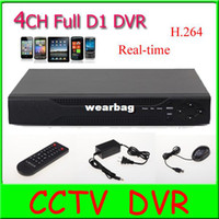Wholesale H 264 D1 Ch - Wholesale-4 CH Full D1 H.264 Network Stand Alone DVR Real-time with mobile Phone Surveillance