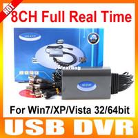 Wholesale 8ch Video Capture Card - Wholesale-8CH Real Time USB CCTV Video Capture Card USB DVR Box For Windows XP Vista 7 32bit 64bit PC Laptop