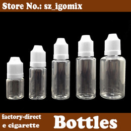 Wholesale E Liquid Smoke - 5ml 10ml 15ml 20ml 30ml 50ml empty liquid bottle with child proof lid eyedropper bottle for e cigarette liquid smoke oil