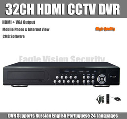 Wholesale 32 Channel Dvr Recorders - Wholesale-32CH HDMI VGA CCTV DVR Recorder Surveillance Security 32 channel Stand alone Network HDMI DVR Mobile Phone View
