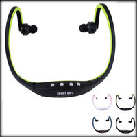 Wholesale mp3 player memory slot - New Fanshion Sports Gym Running headset Wireless MP3 player with TF Memory card Slot Wrap Around Headphones players earphones FM Radio
