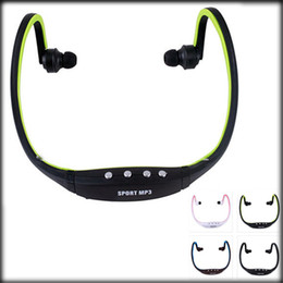 Wholesale Mp3 Sport Headset Memory - New Fanshion Sports Gym Running headset Wireless MP3 player with TF Memory card Slot Wrap Around Headphones players earphones FM Radio