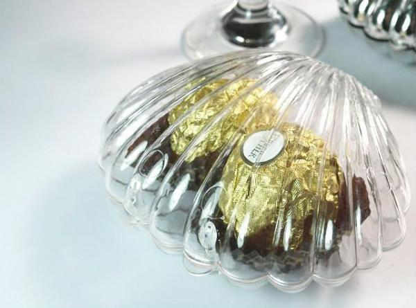Clear Shell Wedding Candy Box Favors,Wedding Sweet Boxes Christmas Gift