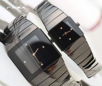 schweizer damen sportuhren marken großhandel-Unisex Luxus Frauen Uhren Dame Schweizer Marke Neue Männer Qaurtz Mode Schwarz Keramik Uhr Damen Casual Günstige Designer Herren Sport Armbanduhr
