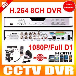 Wholesale Dvr Wd1 - Wholesale-DVR Stand Alone 8CH WD1 8CH Full D1 1080P HDMI H.264 Network Phone Viewing VGA USB Video Camera DVR CCTV System