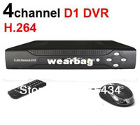 Wholesale Dvr Ch Full D1 - Wholesale-free shipping!4 CH H.264 CCTV Network DVR Real-time Full D1 DVR With mobile phone Surveillance support Russian Language